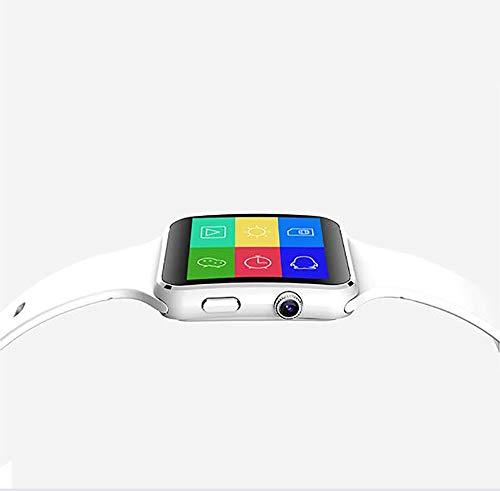 ZUEN Gekrümmter Bildschirm Smart Watch 1.54 Inch Narrow Side Screen 2.5D Curved TP Silikon Strap Smart Card Internet Bluetooth Kamera Phone Watch,White