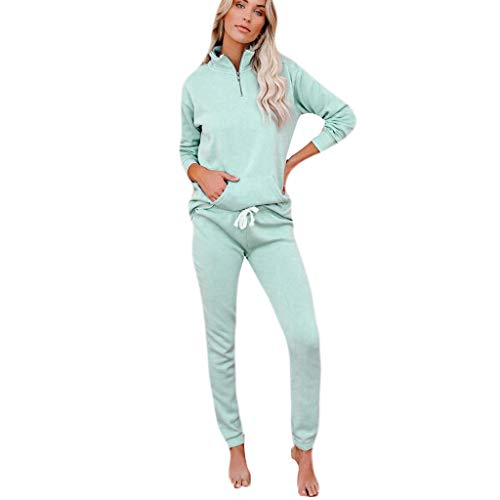 Dosoop 2Pcs Women Tracksuit Print Pants Sets Leisure Wear Long Sleeve Pullover Tops Lounge Home Wear Suit Home Tops+Pants