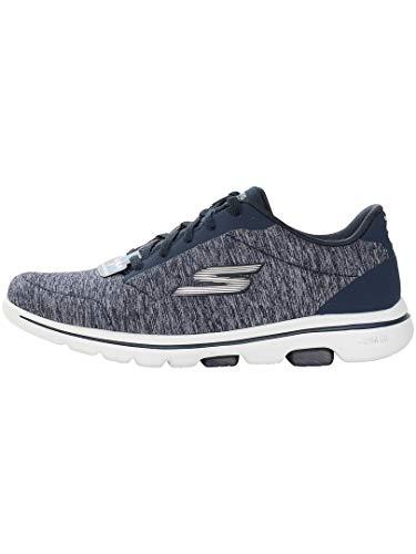 Skechers Go Walk 5 - True Navy/White Womens Walking Shoe Size 6.5W