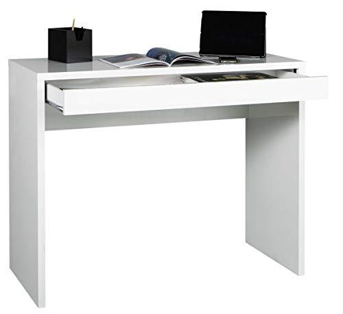AVANTI TRENDSTORE - Casinó - Scrivania con 1 cassetto, Disponibile in 2 Diversi Colori, Dimensioni: Lap 100x80x40 cm (Bianco)