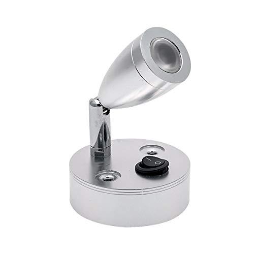 Vosarea Lampes de Lecture à LED avec Abat-Jour en Nickel brossé Warm Lighting 3000K 3W 12V