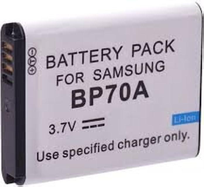 Batería de Litio Recargable Compatible para cámara/videocámara Digital para: Samsung BP 70A BP70A SLB 70A SLB70A