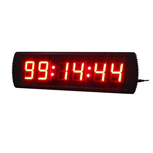 Busirsiz Retro 3 pulgadas LED Digital Intervalo de temporizador de cuenta regresiva Training cronómetro reloj de pared con los despertadores electrónicos de control remoto (Color: Negro, Tamaño: 50X16