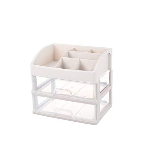 Organizador de cosméticos para aparador, dormitorio, baño, de gran capacidad, caja de almacenamiento con cajón y bolsa de maquillaje (color : C1-2 capas)