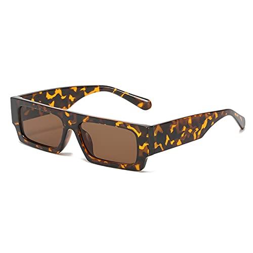 LUOXUEFEI Gafas De Sol Gafas De Sol Rectangulares Para Mujer Gafas Hombre Cuadrado Negro Blanco