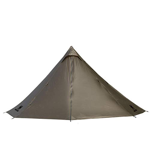 OneTigris Smokey HUT Ultralight Hot Tent, Weighs 2.6Ib, Black Orca Series