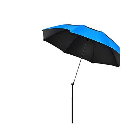 WYH Licht Angeln Regenschirm Universal Double Rainproof Regenschirm Dickes Klapp Angelausrüstung Regenschirm Sonnenschirm Tragbar (Size : C)