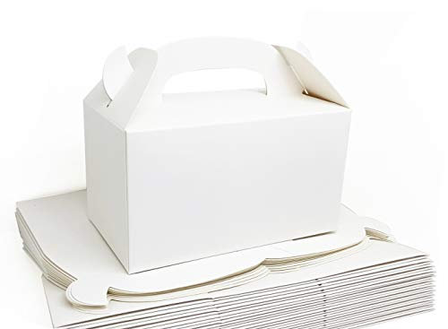 MintieJamie Treat Boxes Plain White Party Favor Boxes 6.25X3.5X3.5 inches Pack of 24pcs Premium Grade Party Supplies Boxes, Thicken Material Favor Boxes, Kids Goodie Box for Birthday, Shower, Events