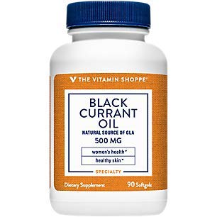The Vitamin Shoppe Black Currant Oil 500MG, Natural Source of GLA, Promotes Healthy Skin, Women