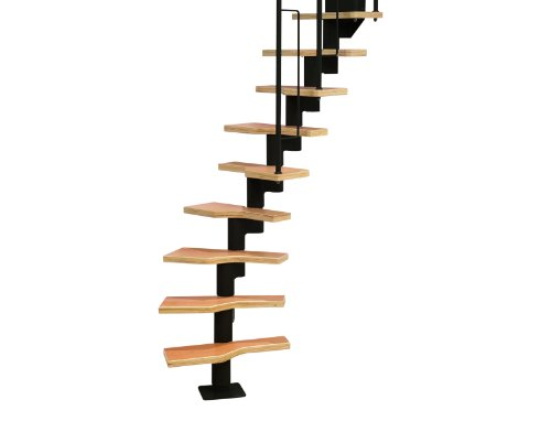 Dolle - Escalera modular en espiral para ahorrar espacio, color negro