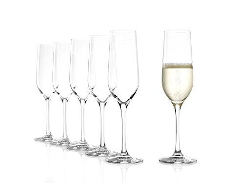 Copas para vinos espumosos Classic de Stölzle Lausitz, de 190 ml, Juego de 6, aptas...