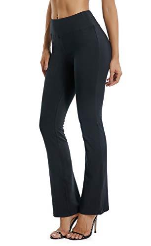 FITTOO Pantaloni Yoga Donna Yoga Pants Larghi Eleganti Sportivo, Nero, M