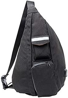 TOOGOO Multifunction Fashion Women Crossbody Bags USB Charging Chest Pack Short Trip Messengers Bag Water Repellent Shoulder Bag Color