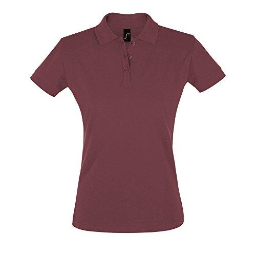 Sols Perfect Damen Polo-Shirt, Kurzarm (Large) (Burgunder)