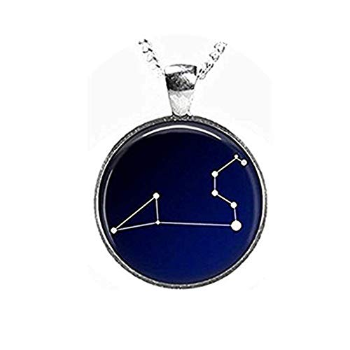 we are Forever family Leo Constellation Night Sky Glasbild Anhänger