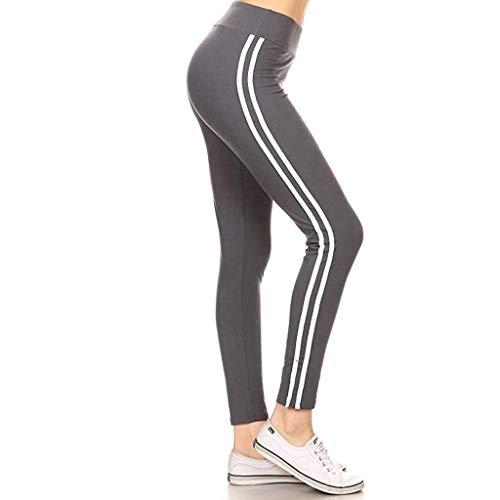 POTOU Hose Damen Sport Leggings Sporthose Laufhose Running Hosen Training Yoga Jogginghose Fitness Gymnastik Outdoor Lange Hose