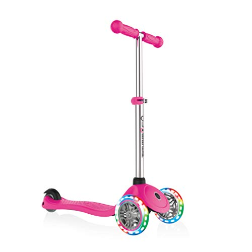 Globber Kids 'Primo Light Up Ruedas Scooter, neón Rosa