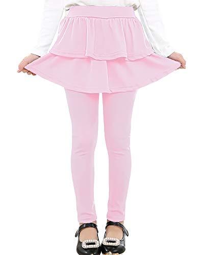 Adorel Leggings con Falda Pantalones Largos para Niñas Pink 9 Años (Tamaño...