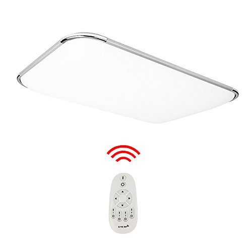 Hengda 48W LED Deckenleuchte Dimmbar Fernbedienung Lichtfarbe und Helligkeit einstellbar Moderne Esszimmer Deckenbeleuchtung Badezimmer geeignet