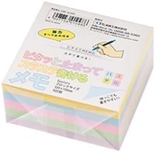ピタット止まって書けるブロックメモ 5色混色 100×100mm 500枚 品番:SUBE-BL500P 注文番号:62726207 メーカー:エヒメ紙工