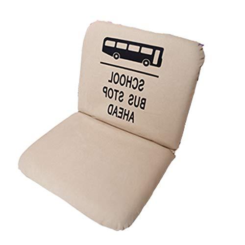 LJFYXZ Chaise de Sol Plier Individuel Fille Chambre Fauteuil Réglage à 5 Vitesses Facile à enlever et à Laver Confortable Chaise d'ordinateur (Couleur : Beige)