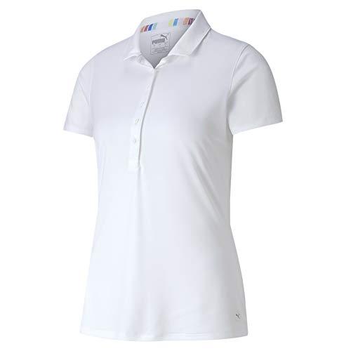 PUMA W Rotation Polo Camiseta Polo, Mujer, Bright White, M