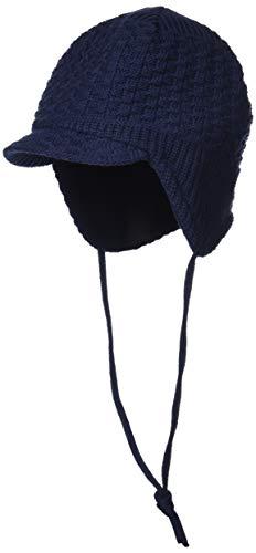 maximo Baby-Jungen 84578-208200, Schildmütze, ausgenäht, Band, einfarbig Mütze, Blau (Navy 48), 47