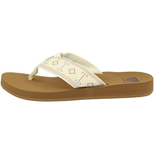 Reef Spring Woven, Chanclas Mujer, Vintage White, 42.5 EU