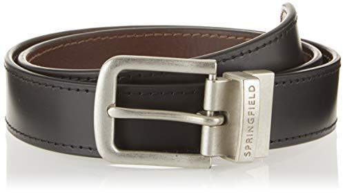 Springfield Reversible Sport-c/01 Cinturón, Negro (Black 1), 95 (Tamaño del fabricante: 95) para Hombre