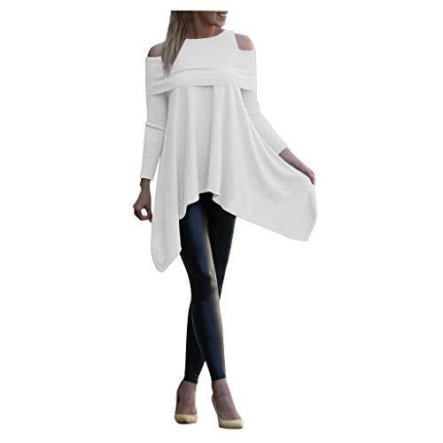 Luckycat Jersey Mujer Sudaderas Básico Punto Suéter de Moda O-Cuello Otoño Invierno...