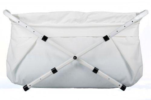 BiBaBad Babybadewanne Kinderbadewanne Faltwanne für die Dusche Weiß 70-90 cm