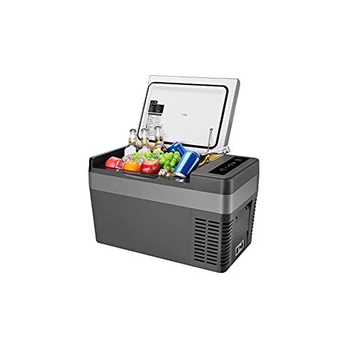 ISSYZONE Kompressor Kühlbox 25 Liter Gefrierbox 12/24 V und 230 V elektrischer tragbarer Kühlschrank, -22 bis 10 ° C, für Auto, LKW und Heimgebrauch