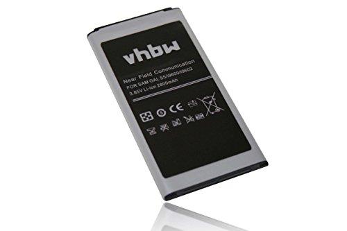 vhbw Li-Ion batería 2800mAh(3.85V) para teléfono móvil Smartphone Samsung Galaxy S5 Neo, S5 Plus, SM-G9006V, SM-G9008V, SM-G9009D, SM-G900A y EB-B900