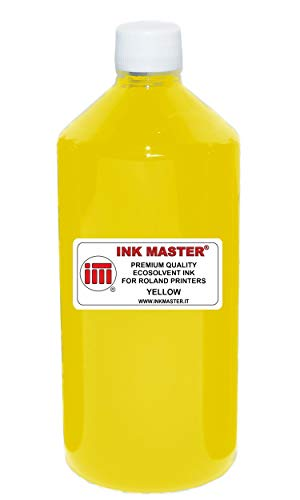 Ink Master - Botella de tinta compatible con Rold Eco-Sol Max 1 2 3 Yellow para Rold Prints Wight DX5 DX6 DX7 TFP Printtheads