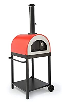 WPPO LLC Traditional 25? Wood fire Oven/Pizza Oven Includes Stand. Red