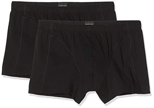 Schiesser Herren 95/5 Multipack Shorts (2er Pack) Boxershorts, Schwarz (schwarz 000), Large (Herstellergröße: 006)