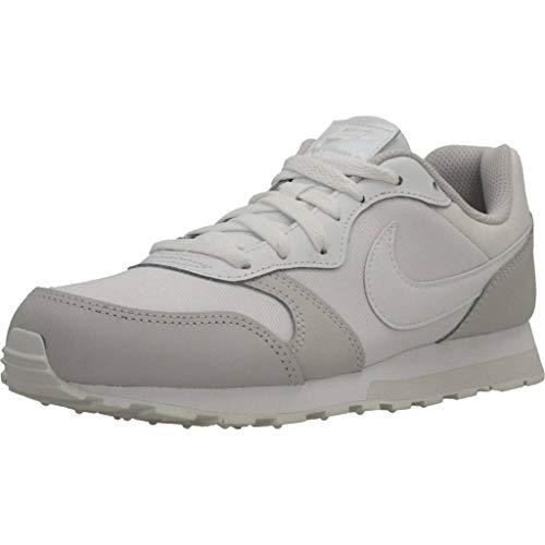 Nike Girls MD Runner 2 (GS) Shoe, Scarpe da Corsa, Multicolore White White Vapste Grey 100, 37.5 EU
