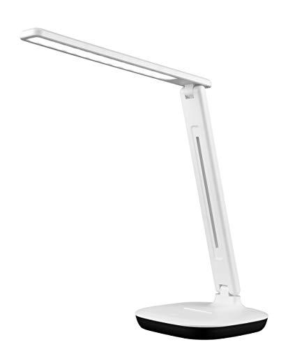 3m desk lamps Fugetek LED Desk Table Lamp, Dimmable, One Touch Sensor Panel, 36 Recessed LED's, 3 Lighting Modes, Modern Design, Office, Home, Dorm, White
