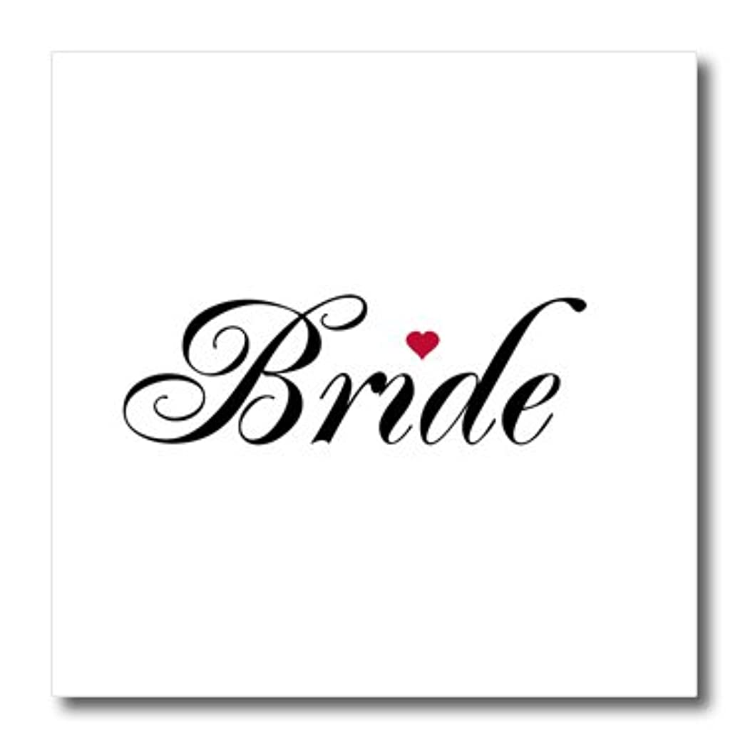 3dRose ht_112863_1 Bride Red Love Heart Bride Groom Set Wedding Married Hen Bachelorette-Iron on Heat Transfer for Material, 8 by 8-Inch, White