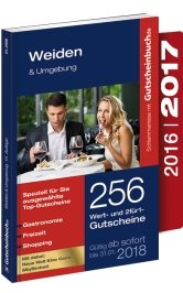 Gutscheinbuch Weiden & Umgebung 2016/17 15. Auflage - gültig ab sofort bis 31.01.2018