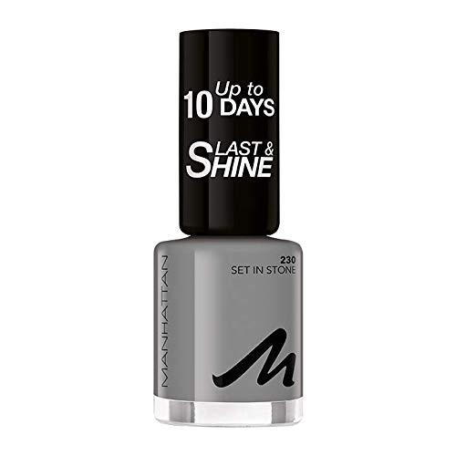 Manhattan Last und Shine Nagellack, Nr.230 Set in Stone, 1er Pack (1 X 10 ml)