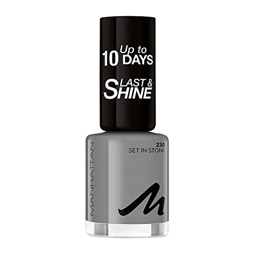 Manhattan Last und Shine Nagellack, Nr.230 Set in Stone, 1er Pack (1 X 10 ml)