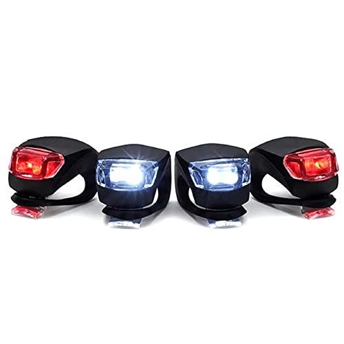 4 Stück Silikon Led Lichter Set, 3 Beleuchtungsmodi, wasserdicht, Push Cycle Clip Light Für Mountainbike Schulranzen Camping