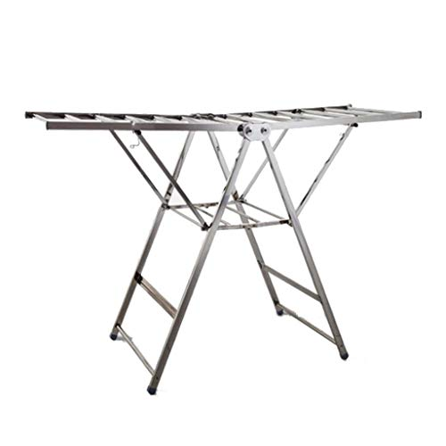 Tendedero Vertical Balcon Marco De Metal Plegable Ropa Plegable Tenderete Ropa (Color...