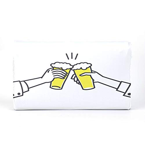 QiyI BedPillowsforKids KidsTravelPillowBoys Latex Pillow with Beer Drink Agreed Deal Cheers Cotton Pillowcase 17.3 X 9.9 X 2.3 in for Boys Girls 2-10 Years Old Children