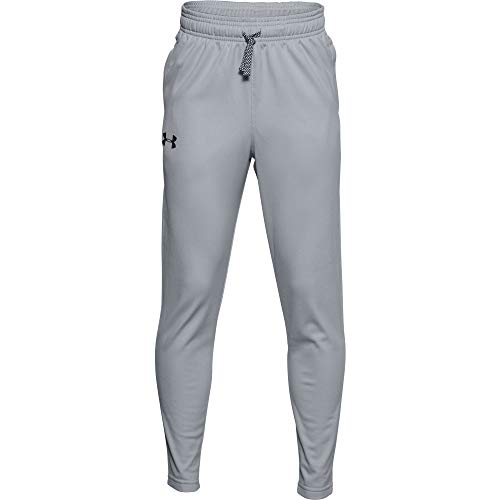 Under Armour Boys' Brawler Tapered Training Pants , Mod Gray (013)/Black , Youth X-Large