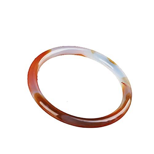 GAOZHEN Natürliches Schönheitsarmband mit kleinen runden Barkreisen, Chalcedon-Agate-Jade-Armband, ethnischer Art-feiner Schmuck,55to62