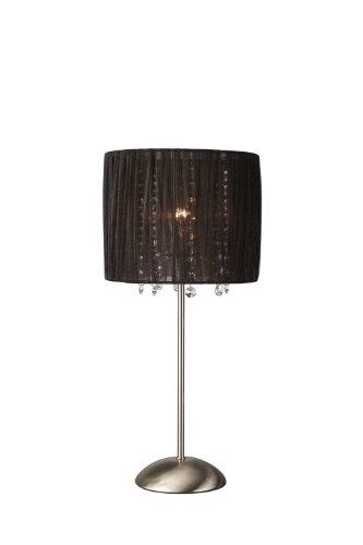 Massieve tafellamp – tafellampen (Ambience, AC, E14, zwart, Bedroom, Living Room, IP20)
