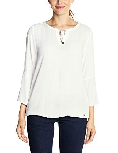Cecil Damen 341651 Bluse, Weiß (Pure Off White 10125), Medium (Herstellergröße:M)
