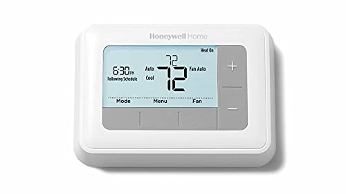Honeywell Home RTH7560E 7-Day Flexible Programmable Thermostat-Extra-Large Backlit Display, White